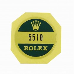 5510 Rolex Case Back Sticker Submariner Stahl Big Crown