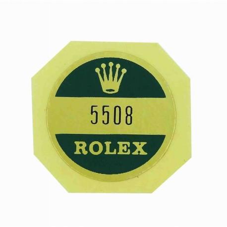 5508 Rolex Case Back Sticker Submariner Stahl James Bond