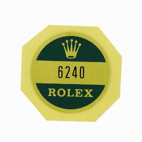 6240 Rolex Case Back Sticker Daytona Cosmograph Stahl