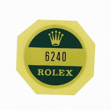 6240 Rolex Case Back Sticker Daytona Cosmograph Steel