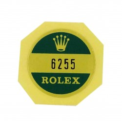 6255 Rolex Case Back Sticker Oyster Perpetual Stahl 34mm