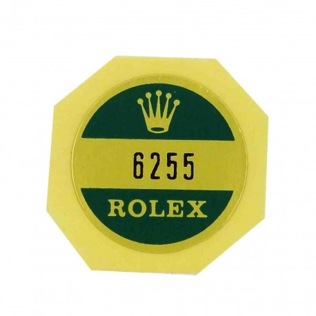 6255 Rolex Case Back Sticker Oyster Perpetual Stainless Steel 34mm