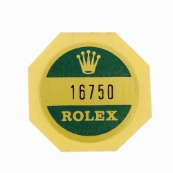16750 Rolex Case Back Sticker Vintage GMT Master II Stainless Steel
