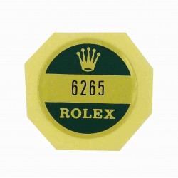 6265 Rolex Case Back Sticker Daytona Cosmograph Steel Vintage