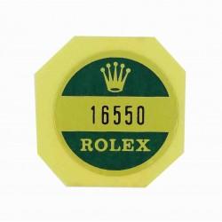 16550 Rolex Case Back Sticker Explorer II Stahl