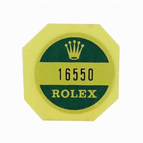16550 Rolex Case Back Sticker Vintage Explorer II Steel