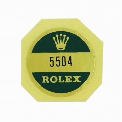 "5504 Rolex Case Back Sticker Air King Steel ""Super Precision"""