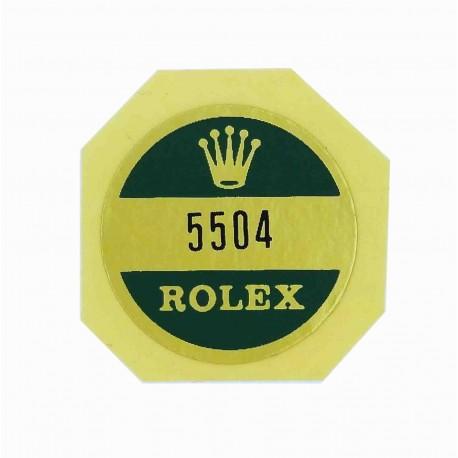5504 Rolex Case Back Sticker Air King Stahl Super Precision