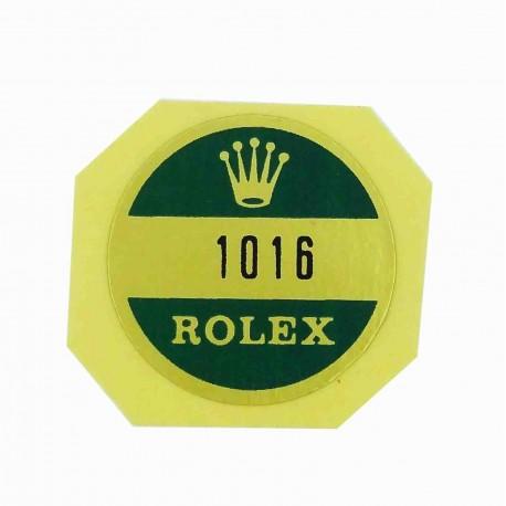 1016 Rolex Case Back Sticker Explorer Steel