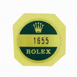 1655 Rolex Case Back Sticker Explorer II Steel Steve Mc Queen