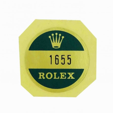 1655 Rolex Case Back Sticker Explorer II Stahl Steve Mc Queen