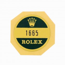 1665 Rolex Case Back Sticker Sea Dweller DOUBLE RED Steel Automatic