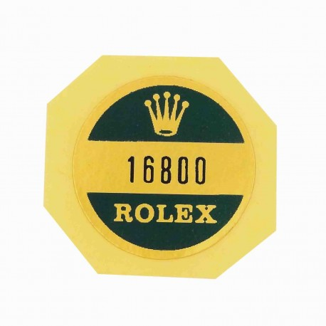 16800 Rolex Case Back Sticker Submariner Date Steel Automatic 40mm
