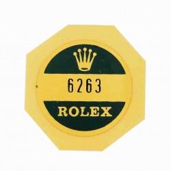 6263 Rolex Case Back Sticker Daytona Cosmograph Stahl Handaufzug