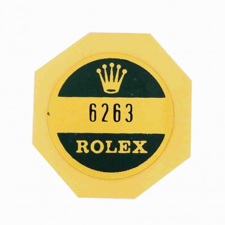 6263 Rolex Case Back Sticker Daytona Cosmograph Steel Wind Up