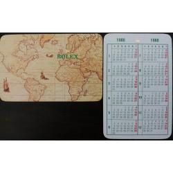 ROLEX 1980 Pocket Calendar Daytona Cosmograph Submariner 1680 5514 Comex