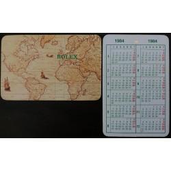 ROLEX Pocket Calendar 1984 GMT Daytona Submariner Sea Dweller Day-Date Datejust