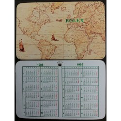 ROLEX 1988 1989 Vintage Pocket Calendar Milgauss Daytona Explorer Submariner GMT Date