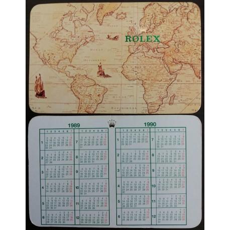 ROLEX Pocket Calendar 1989 1990 Submariner Daytona Sea-Dweller GMT Explorer Milgauss