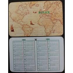 ROLEX 1992 1993 Pocket Calendar Daytona Submariner