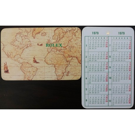ROLEX 1979 Pocket Calendar Sea Dweller 1665 Submariner 1680 5513 COMEX 5514 Explorer