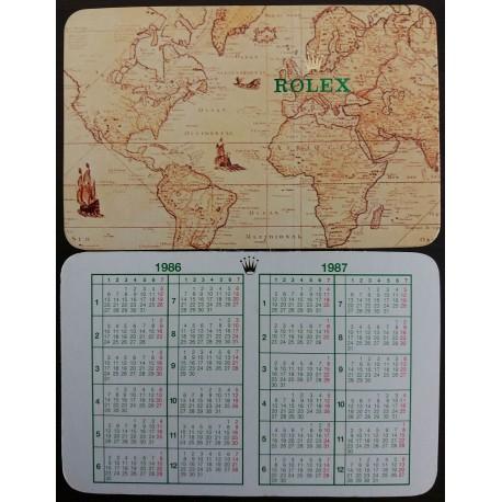 ROLEX 1986 1987 Vintage Pocket Calendar Milgauss Daytona Explorer Submariner GMT Date.