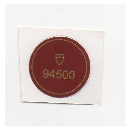 94500 Tudor Caseback Sticker Vintage Oyster Prince Date + Day Stahl Automatik  35 mm