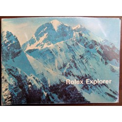 Vintage Booklet Rolex Steve Mcqueen Explorer 1655 1016 1973 Mint Condition