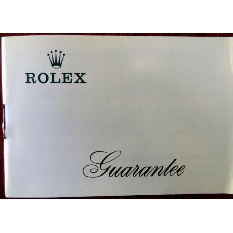 ROLEX 1969 Guarantee Certificate