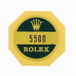 5500 Rolex Case Back Sticker Air King Stahl Automatik 34mm