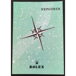 Rolex Booklet Leaflet Modell 1016 N.O.S Explorer Vintage Brochure very rare