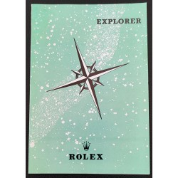 Rolex Booklet Leaflet Modell 1016 N.O.S Explorer Vintage Broschüre sehr selten