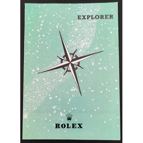 Rolex Explorer Vintage Brochure Leaflet Booklet sehr selten - Modell 1016 N.O.S