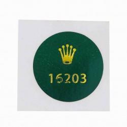 16203 Rolex Caseback Sticker Vintage Master Stahl Gold