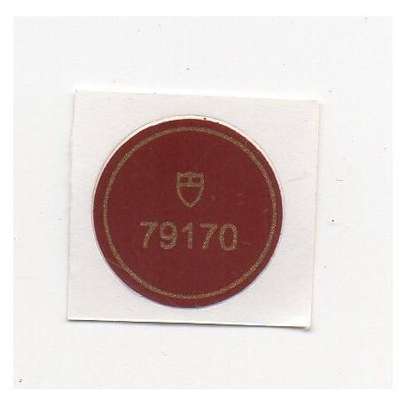 79170 Tudor Vintage Caseback Sticker Big Block Chronograph Stahl Automatik - Schweizer Uhr