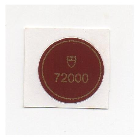 72000 Tudor Caseback Sticker Vintage Prince Ranger Date Steel - Swiss Watch