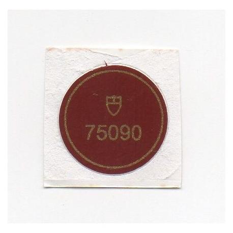 75090 Tudor Vintage Caseback Sticker Submariner Prince Oysterdate - Swiss Watch
