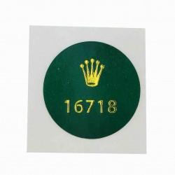 16718 Rolex Caseback Sticker Vintage GMT Master II Yellow Gold