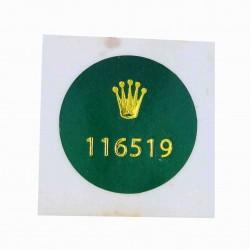 116519 Rolex Vintage Caseback Sticker Cosmograph Daytona White Gold