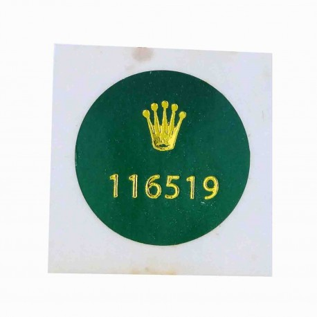 116519 Rolex Vintage Caseback Sticker Cosmograph Daytona Weißgold