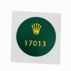 17013 Rolex Caseback Sticker Vintage Oyster Quartz Datejust Steel Gold