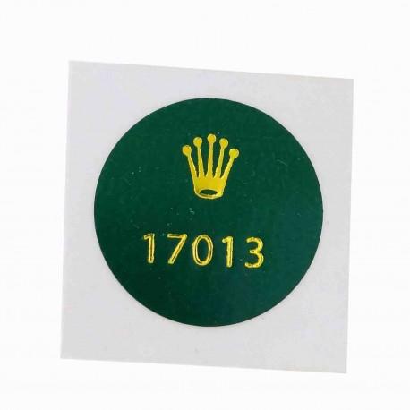17013 Rolex Caseback Sticker Vintage Oyster Quartz Datejust Steel Gold