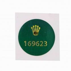 169623 Rolex Caseback Sticker Yachtmaster Steel Gold Lady