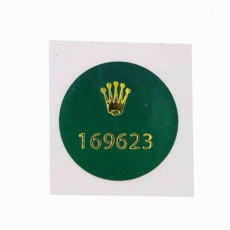 169623 Rolex Caseback Sticker Yachtmaster Stahl Gold Lady