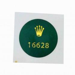 16628 Rolex Vintage Caseback Sticker Yacht Master 18K Yellow Gold