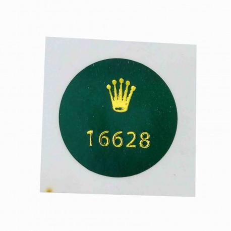 16628 Rolex Vintage Caseback Sticker Yacht Master 18K Gelbgold