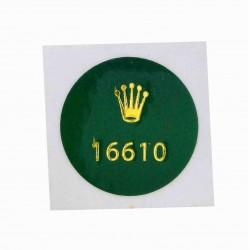 16610 Rolex Caseback Sticker Submariner Date Steel Automatic 40mm
