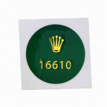 16610 Rolex Caseback Sticker Submariner Date Steel Automatic 40mm