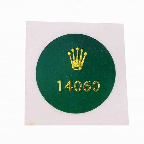 14060 Rolex Caseback Sticker Submariner Stahl no Date - Schweizer Uhr