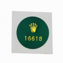 16618 Rolex Caseback Sticker Submariner Gelb Gold Vintage